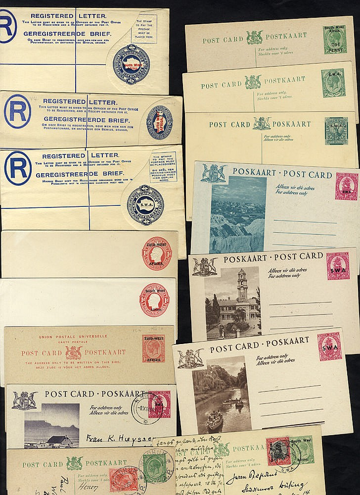 20thC range of postal stationery, mainly unused but some are U fr