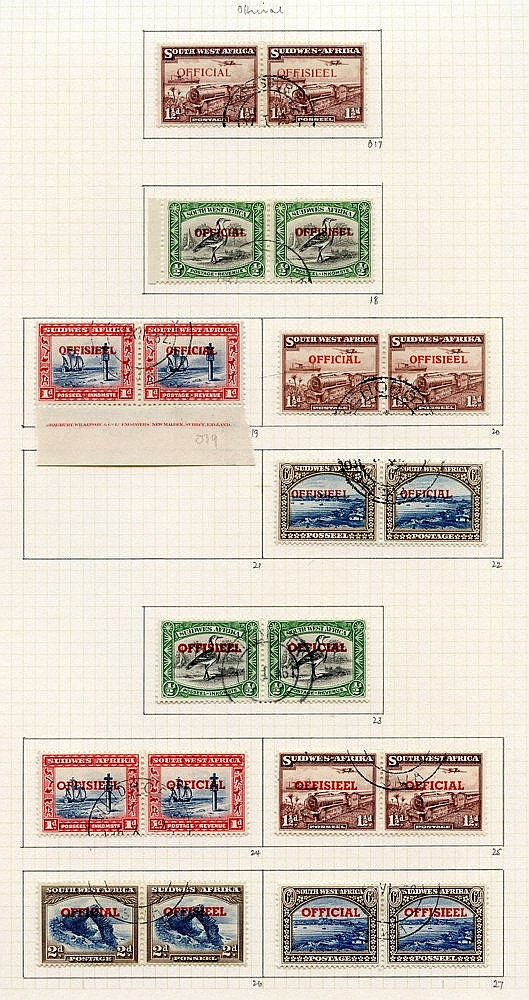 1937-52 collection U on philatelic leaves, basic issues plus some