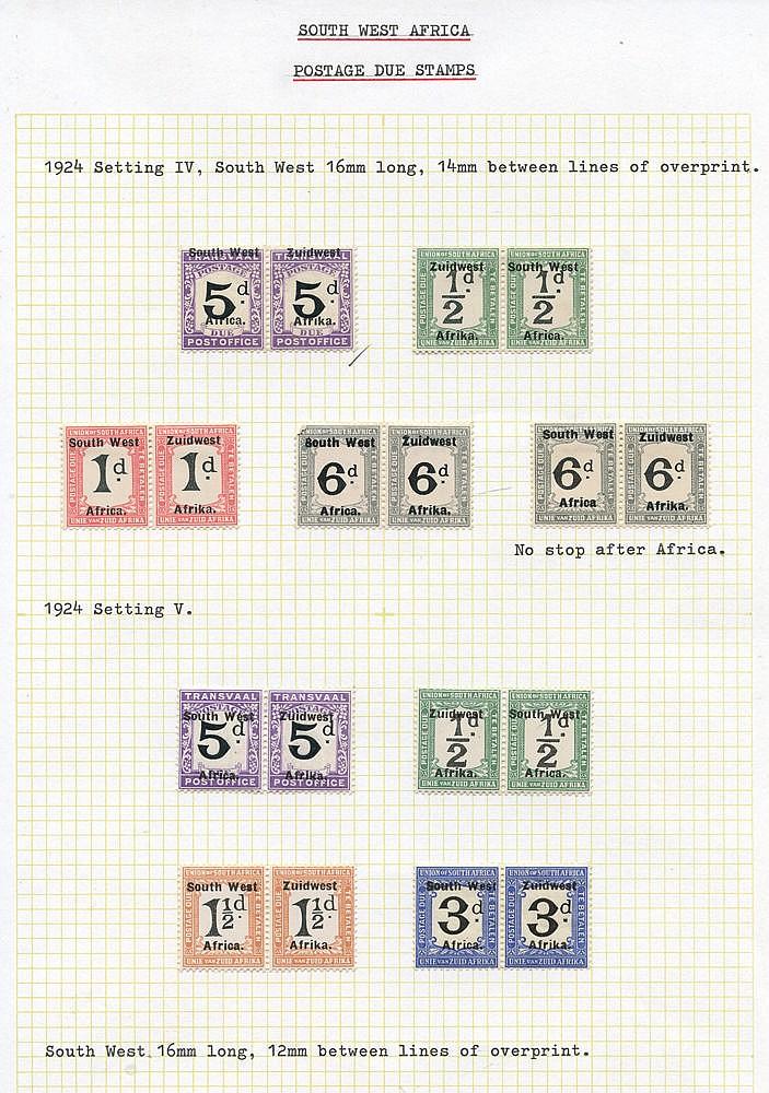 POSTAGE DUES 1923-72 fine M range incl. 1923 II Setting 2d, 3d, 5