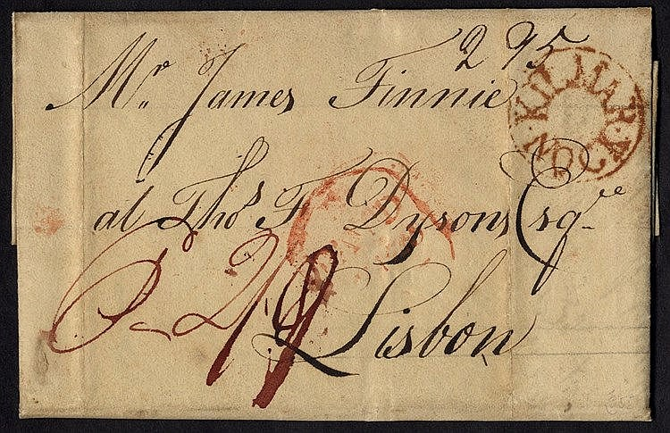 1807 entire letter to Lisburn bears fine circular KILMARNOCK mark
