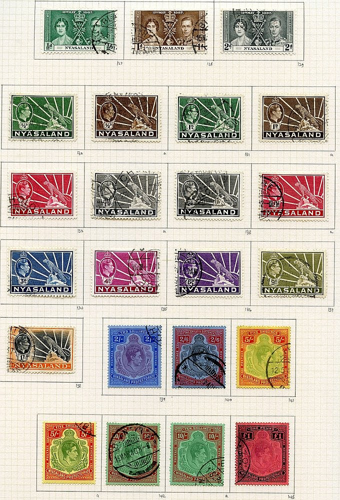 1937-51 collection U on philatelic leaves. 1938 set plus 1944 5s