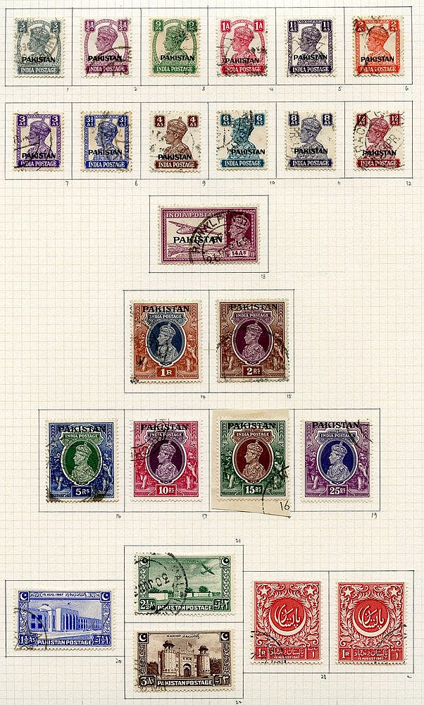 1947-51 collection U on philatelic leaves incl. 1947 & 1948 sets