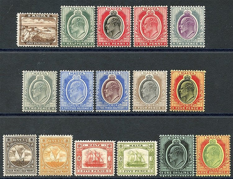 1904-14 MCCA set, M (excl. 1s SG.61), SG.45/63. (16) Cat. £207