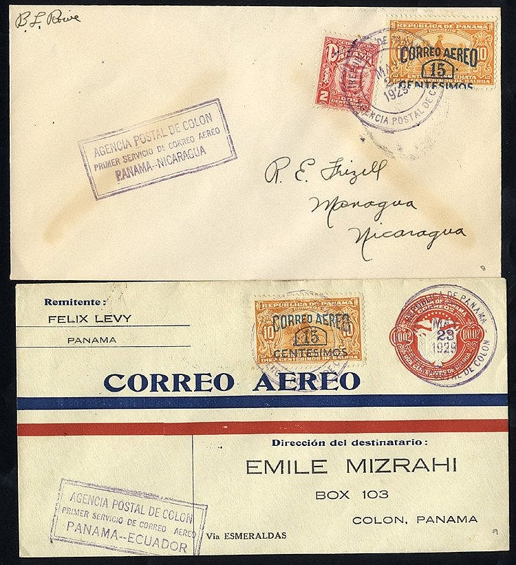 1929 first flight covers, PAA Colon/Havana (125 Flown), Colon/Tel