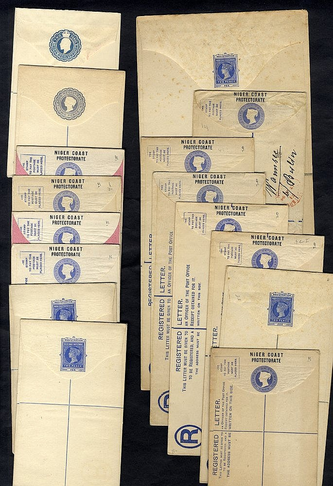 1892-1900 registered stationery envelopes, 18 unused & 1 SPECIMEN