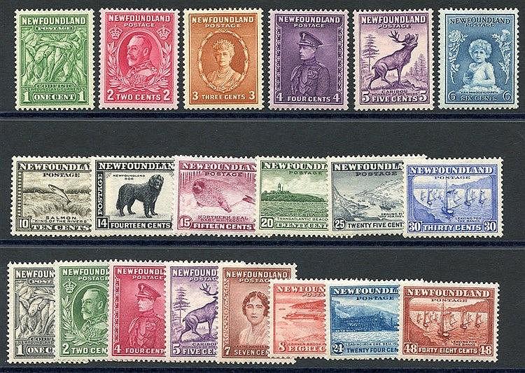 1932 Pictorial Defin sets (both) M, SG.209/220 & 222/228c. (20) C