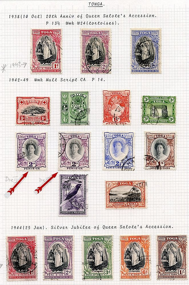 1938-51 KGVI VFU collection incl. 1942 set, 1944 Jubilee set, 195