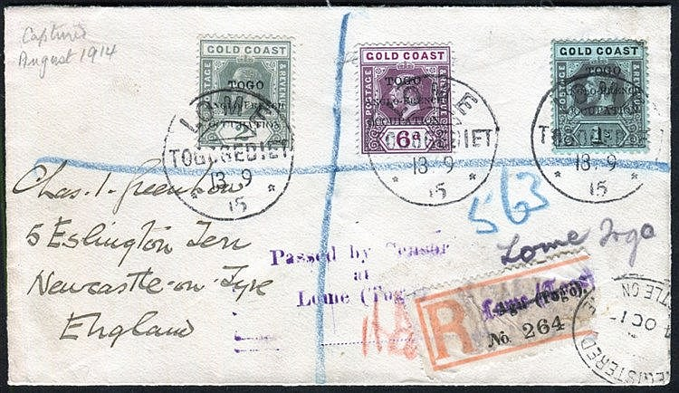 Anglo-French Occupation covers incl. a trio of censored/registere