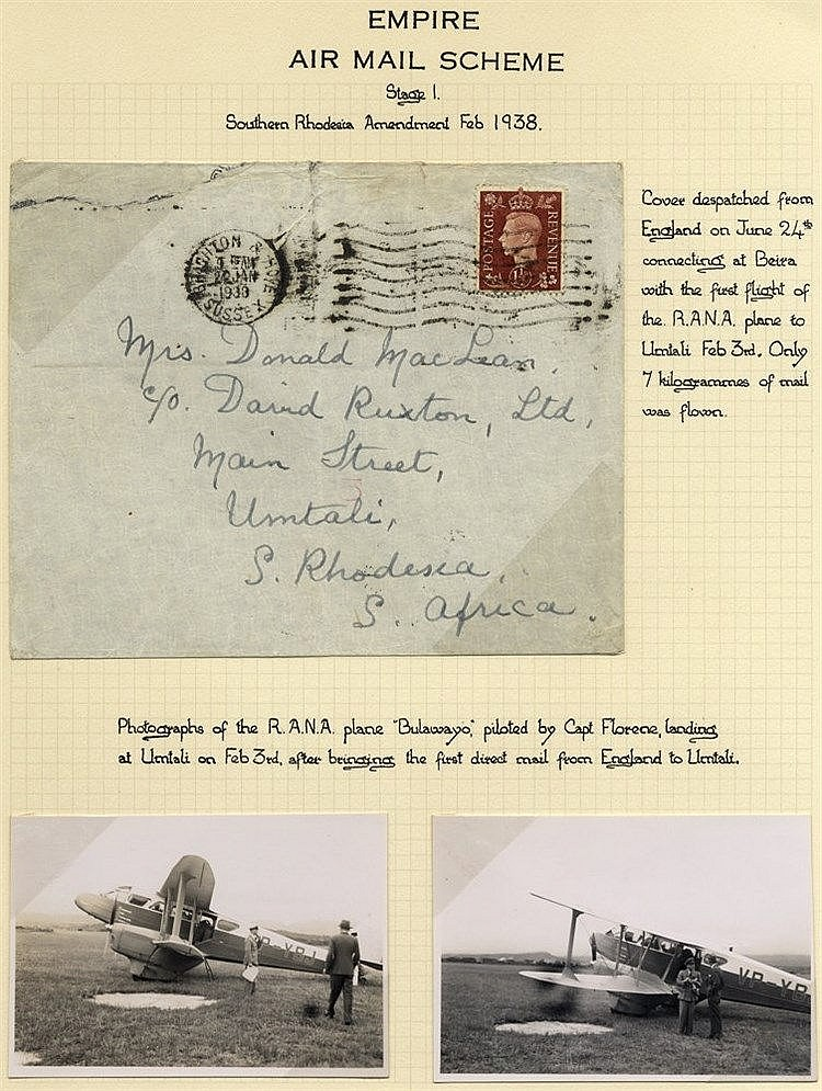 1938 Feb 3rd cover despatched from Brighton, England connecting a