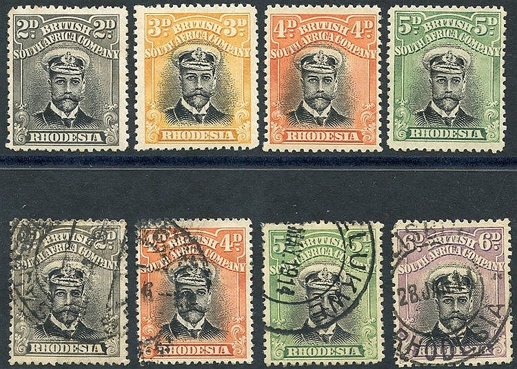 1913-22 Admirals Die I with values 2d, 3d, 4d & 5d M & 2d, 4d, 5d