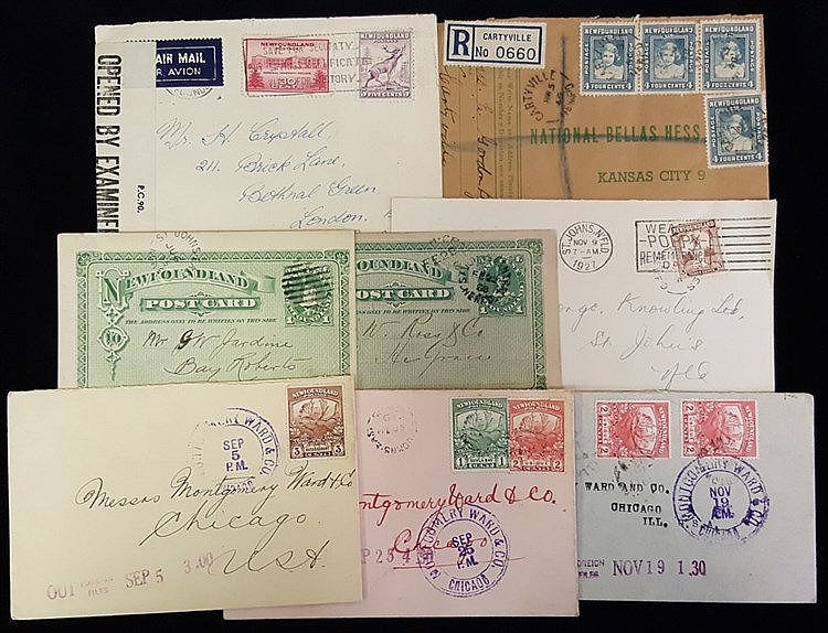 1880's-1960's covers, extensive cancellation range on approx 90 c