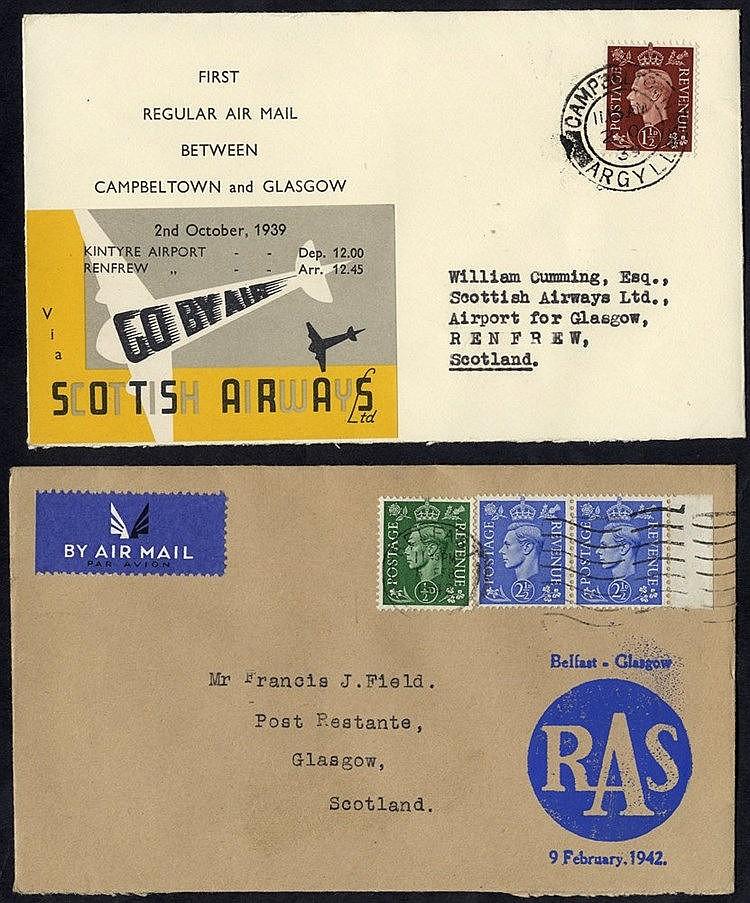 1939 Oct 2nd Scottish Airways first flight Campbeltown - Glasgow