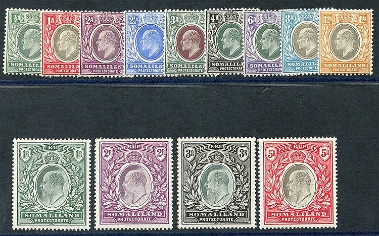 1904 CCA & CCC set fine M, SG.32/44. (13) Cat. £250
