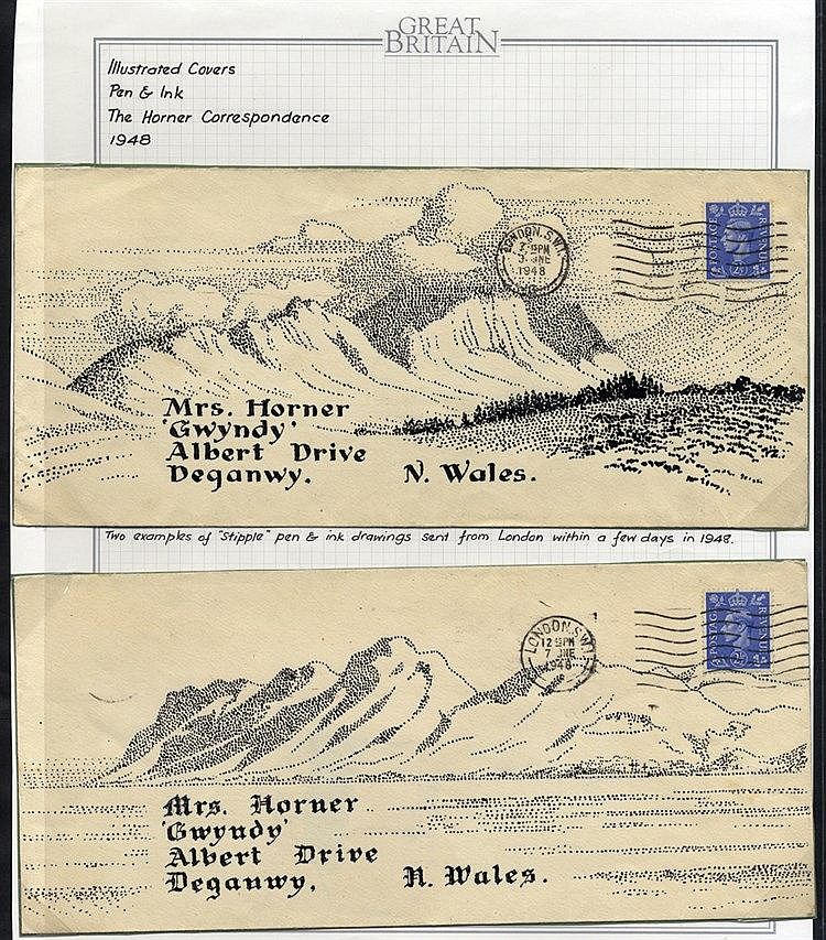 1948 The Horner Correspondence - two covers, both addressed to Mr