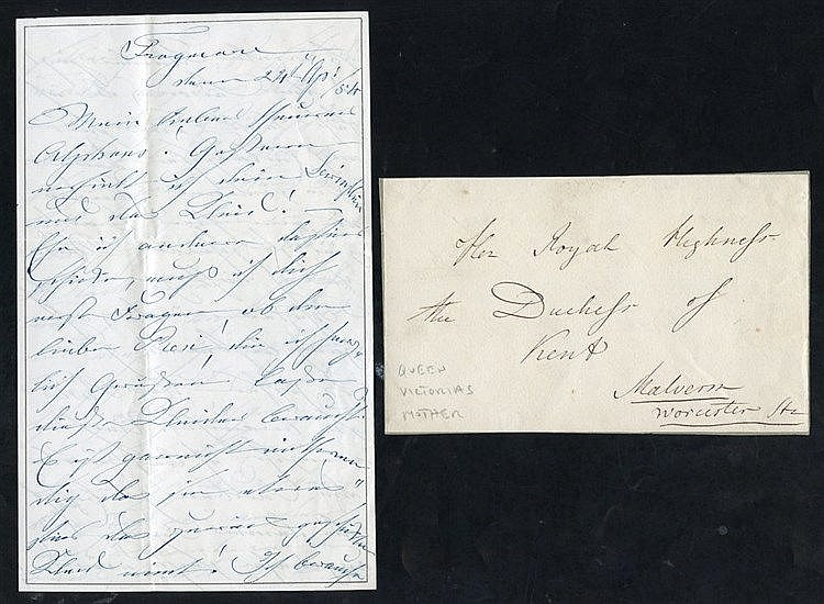1854 letter written & signed Victoria Duchess of Kent - Queen Vic
