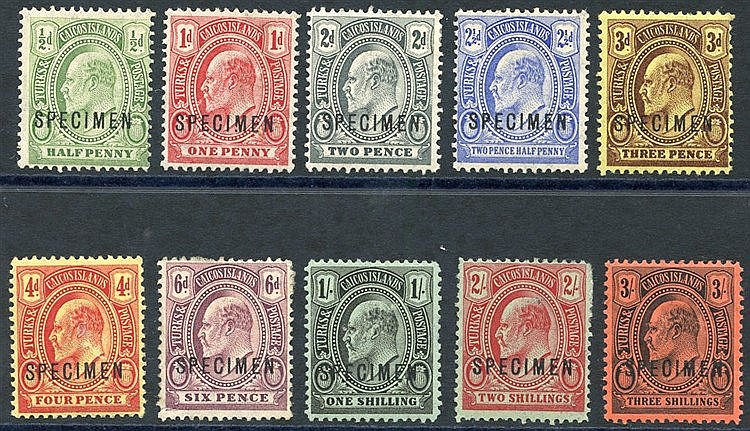 1909-11 CCA ½d to 3s set (excl. the two lower vals), 6d & 2s have