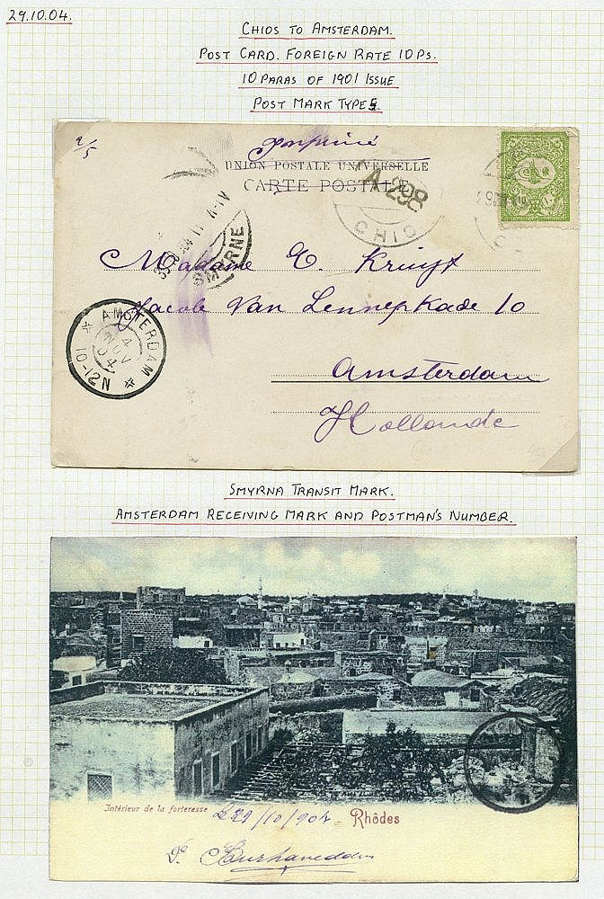 1904-13 Chios (Scio) specialised postal history collection with A