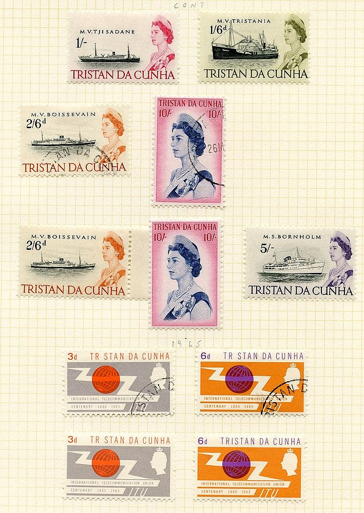 1953-90 M & VFU collection housed in a Simplex album. Defin sets