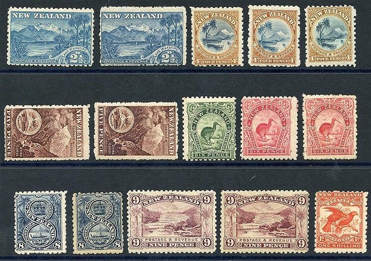 1899 Pictorial Defins - 2½d (2) SG.260, 260c, 4d (3) SG.262, 262a