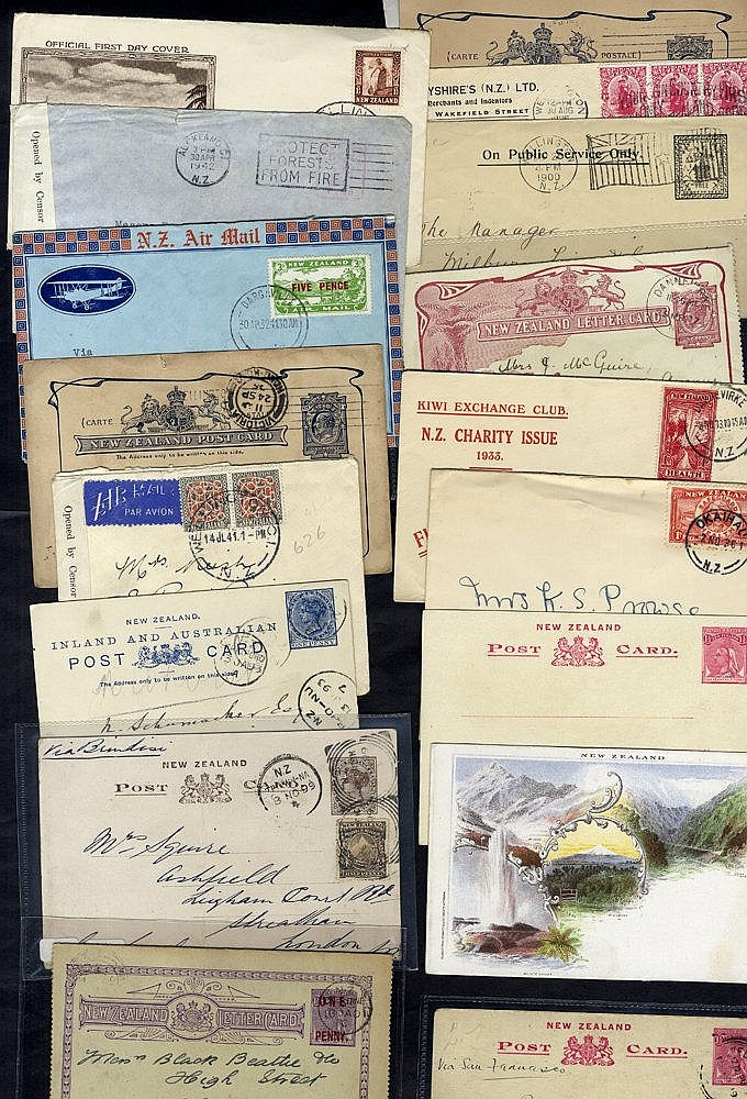 1893-1944 range of covers incl. unused stationery, incl. 1940 reg