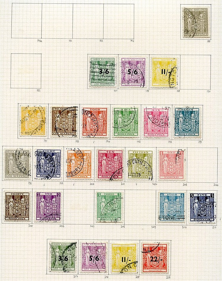 1937-52 collection U on philatelic leaves, a largely complete run
