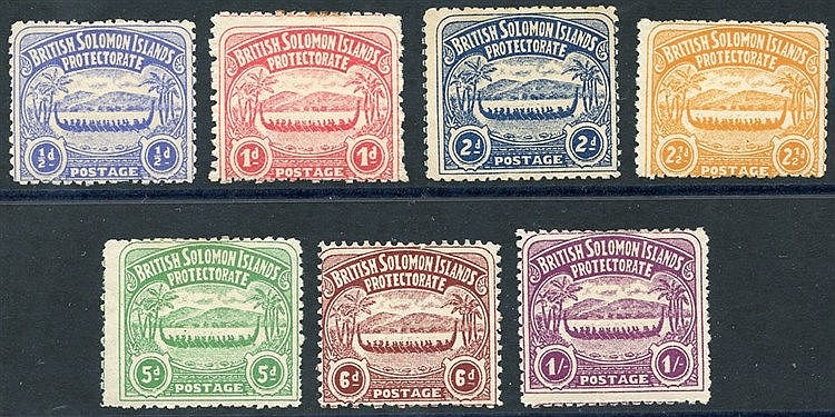 1907 Canoe set, M (1d has a few stained perfs), SG.1/7 (7) Cat. £