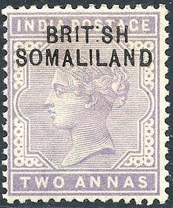 1903 2a pale violet 'BRIT SH' missing 'I' variety, fresh M, SG.3a