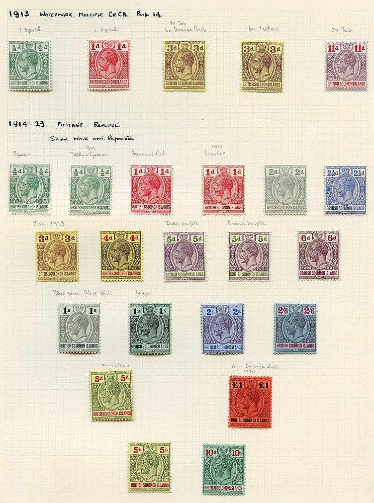 1913 'POSTAGE POSTAGE' set & 1914-23 'POSTAGE REVENUE' fine M wit
