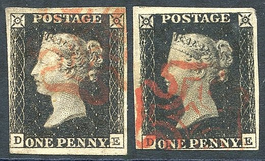 Plate 1a DE, good to large margins on three sides, close cut at l