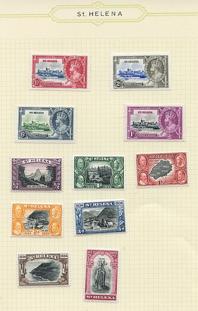1935-67 fine M collection on leaves incl. 1934 Centenary set (exc