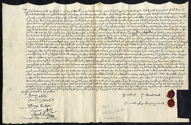 1648 (Dec 1) Indenture concerning a house and land, agreed betwee