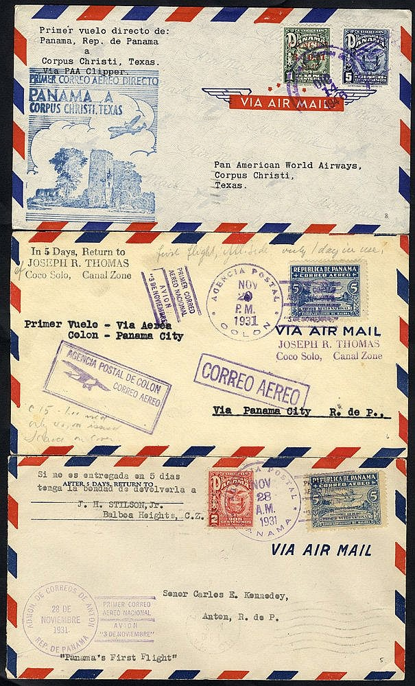 1931 first flight covers, National Mail Service by seaplane 28.11