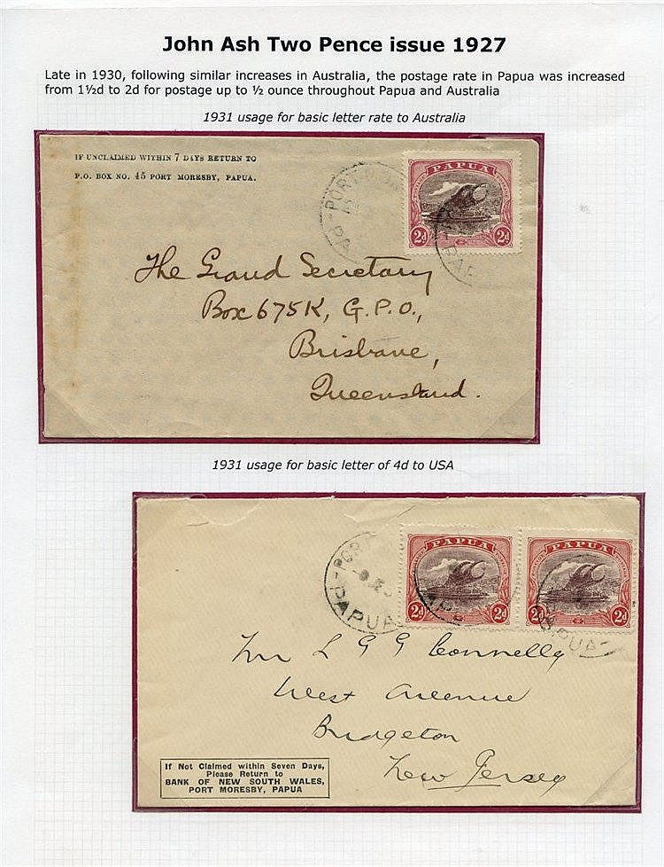 20thC early range of covers bearing 1d & 2d Lakatoi vals with 1d