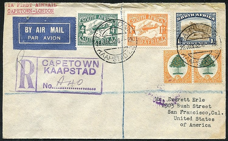 1925-74 collection of first flight covers (58) written up in a Pa