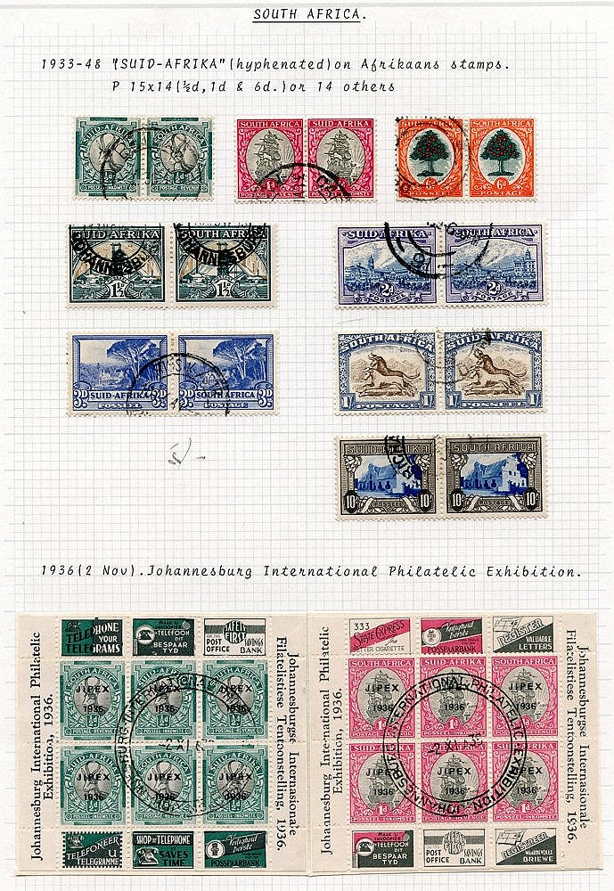 1933-51 KGVI collection VFU incl. 1933 vals to 10s (excl. 5s), 19