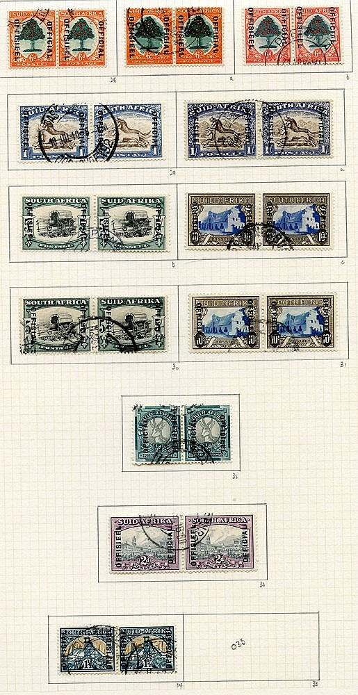 1936-64 collection U on philatelic leaves with much useful materi