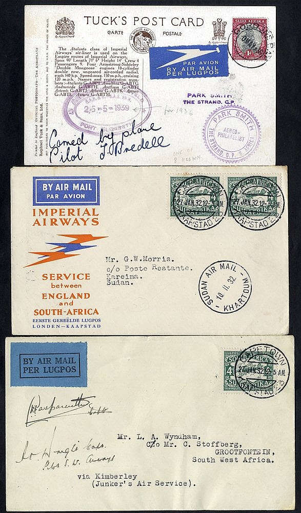 1932 & 1935 three first flight covers with Imperial Airways 1932