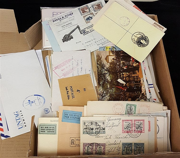 20thC large accumulation of covers, letters, postcards, WWI O.A.S