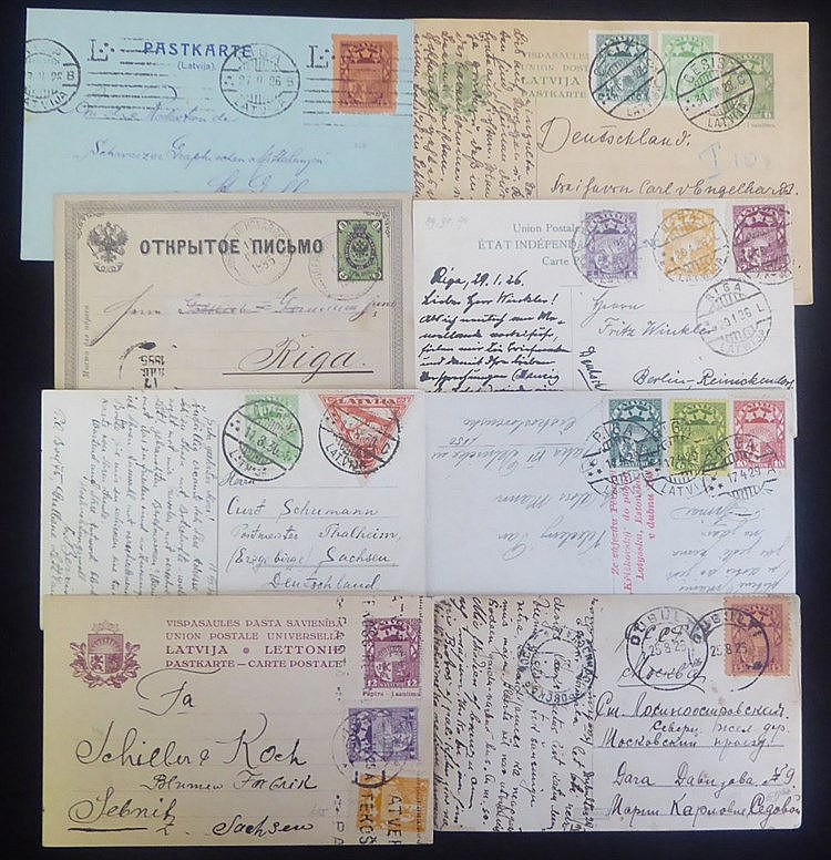 Postcards - mainly 1920's-30's but incl. 1885 Russian item, most