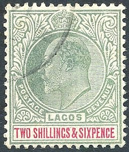 1904 CCA 2/6d green & carmine VFU, SG.51. (1) Cat. £325