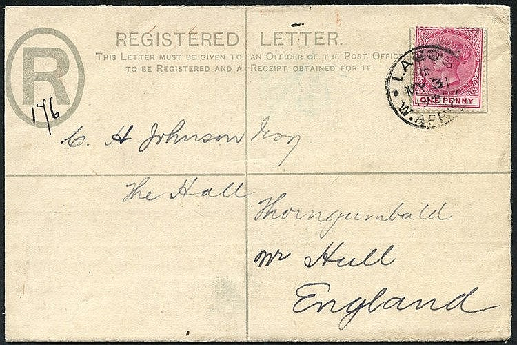 POSTAL STATIONERY collection comprising cards with 1887 1½d U, un