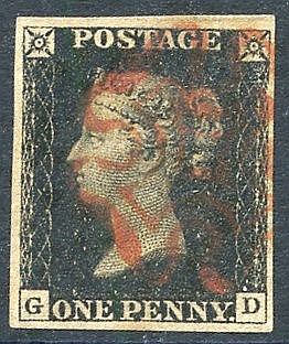 Plate 1b GD, good to large margins, fine red MC. (1)