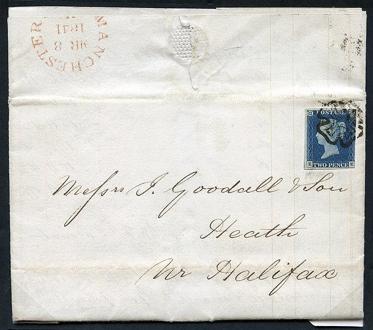1841 March 8th entire letter from Manchester to Heath Nr Halifax,
