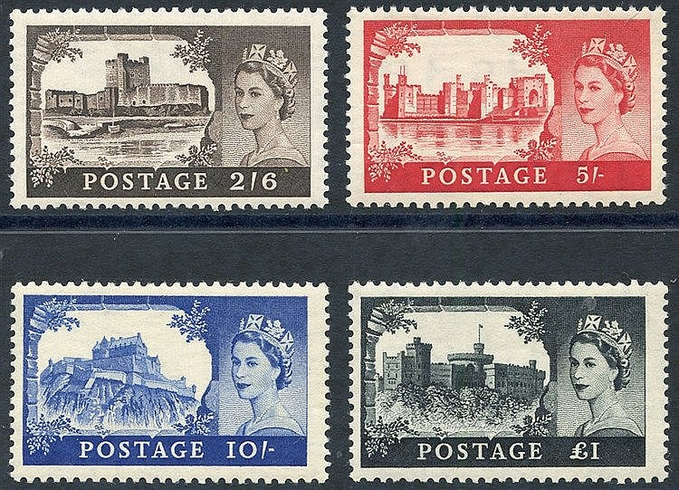 1955 Waterlow Castle set UM, SG.536/9. (4)