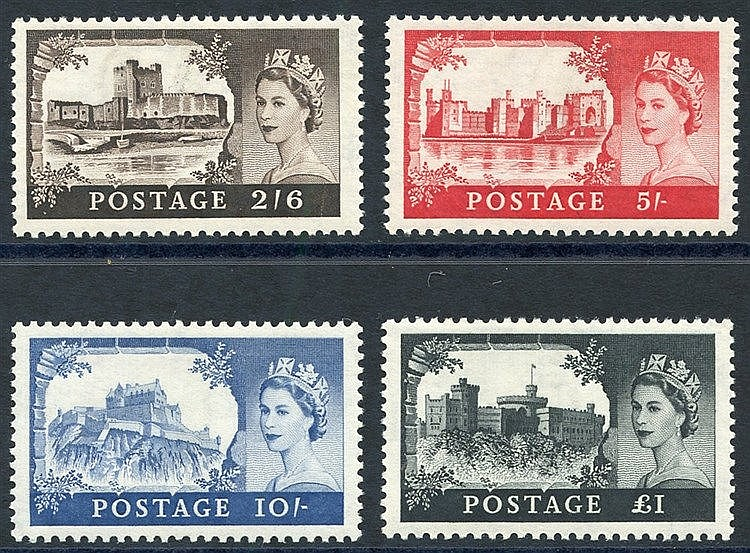 1959 2nd DLR Castle set UM, SG.595/8. (4)