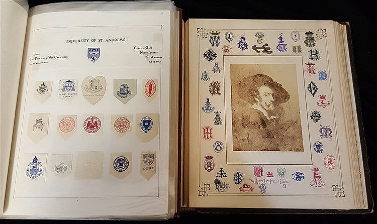 HERALDIC & OTHER MONOGRAMS collection housed on leaves in a Vikin