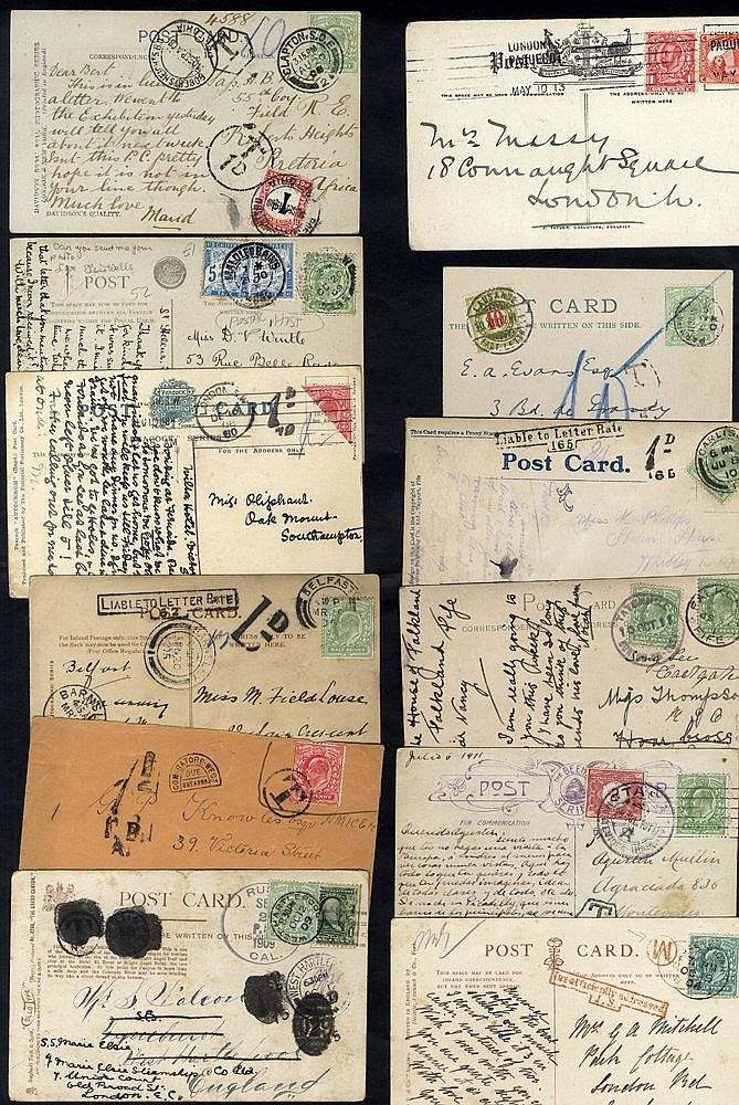 EDWARDIAN COVERS collection of approx 80 housed in a postcard alb