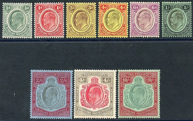 1908 MCCA set to 10s fine M SG.73/80, also 1s CCA SG.72 M. (9) Ca