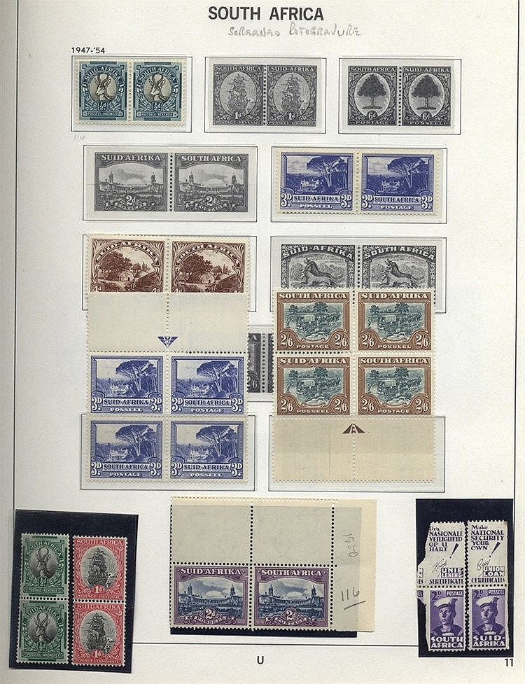 1910-88 M or UM collection of 669 stamps & 14 m/sheets housed in