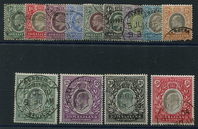 1904 CCA & CCC set, VFU, SG.32/44. (13) Cat. £425